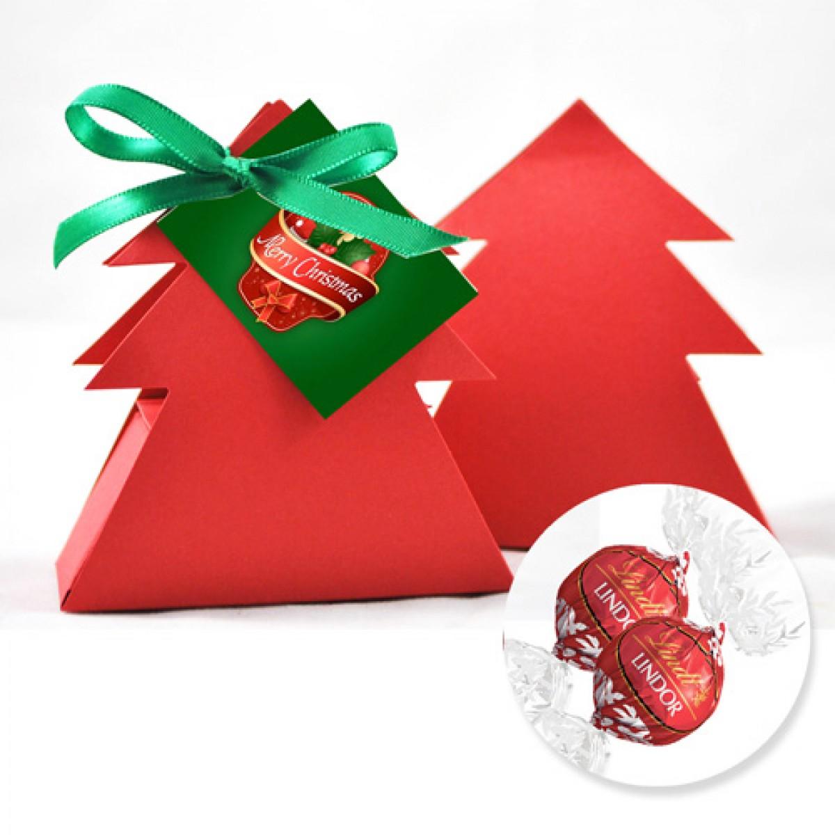 Christmas tree box with lindor balls for Christmas tree in a box