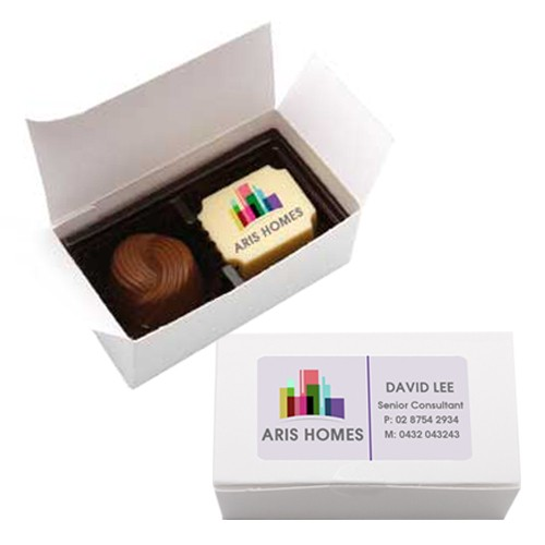 2pc Signature Chocolate Gift Box with Printed Chocolate