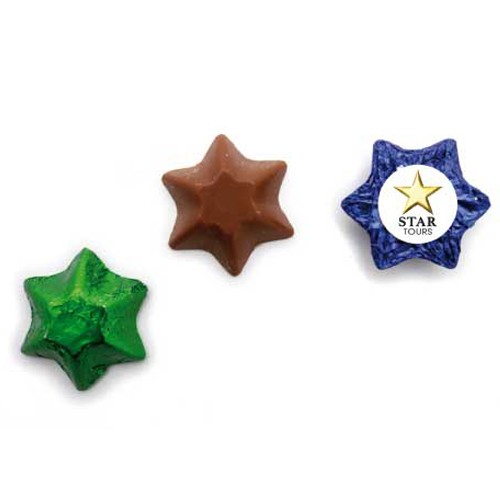 Chocolate Stars w Sticker