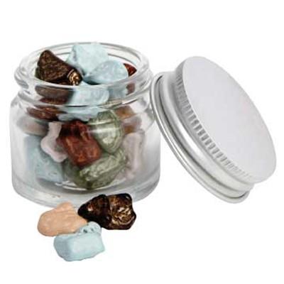 Mini Glass Jar with Chocolate Rocks