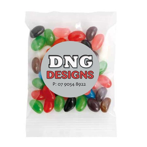 Medium Confectionery Bag - Mixed Mini Jelly Beans