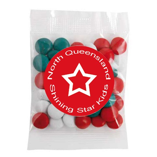 Medium Confectionery Bag - Chocolate Gems (Corporate Colour)