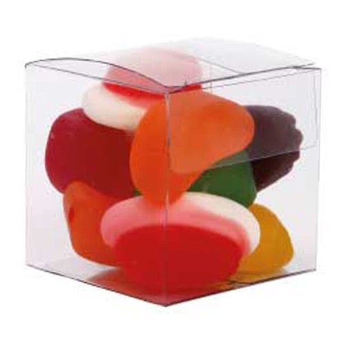 Small Clear Cube with Mixed Lollies