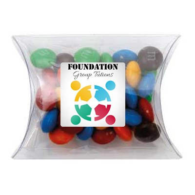 Clear Pillow Box with M&M