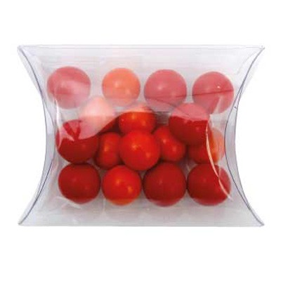 Clear Pillow Box with Chocolate Balls (Corporate Colours)