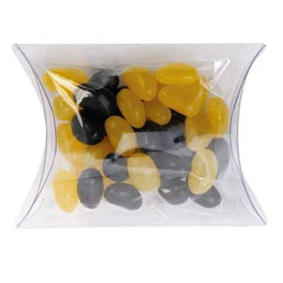 Clear Pillow Box with Mini Jelly Beans (Corporate Colour)