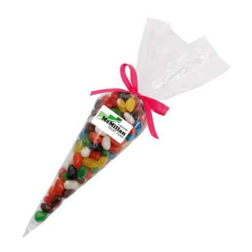 Confectionery Cones with Mixed Jelly Beans