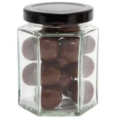 Large Hexagon Jar with Malt Balls