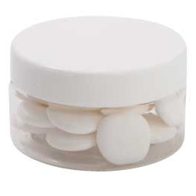 Small Plastic Jar with Flat Mints