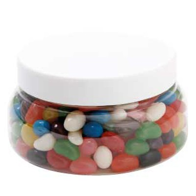 Large Plastic Jar with Mixed Mini Jelly Beans