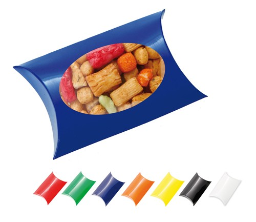 Window Pillow Box with Rice Crackers