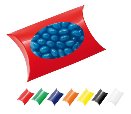 Window Pillow Box with Jelly Beans (Corporate Colour)