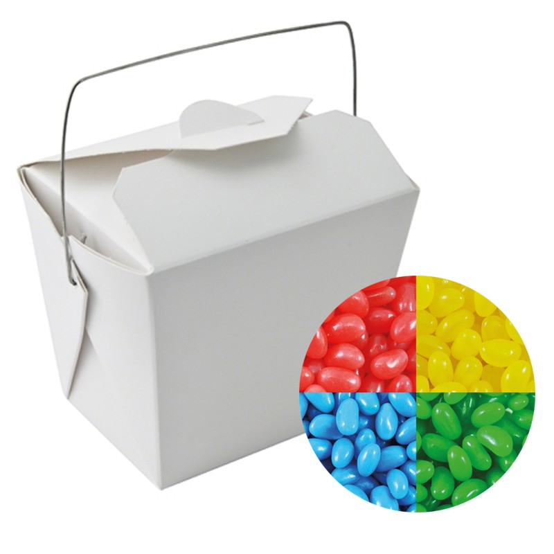 Paper Noodle Box with Jelly Beans (Corporate Colour)