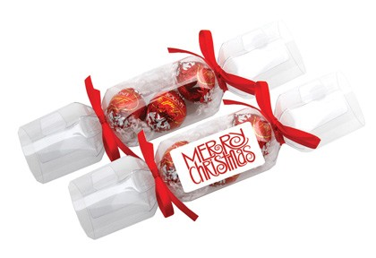 Clear Cracker with Lindor Balls (assorted)