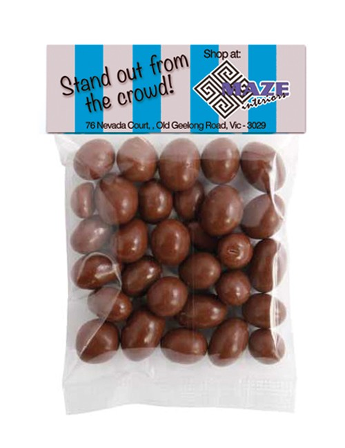 Chocolate Peanut Header Bag