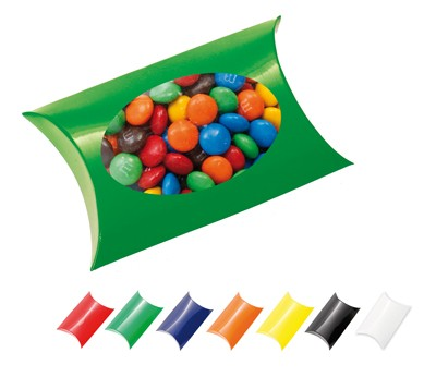 Window Pillow Box with M&M's