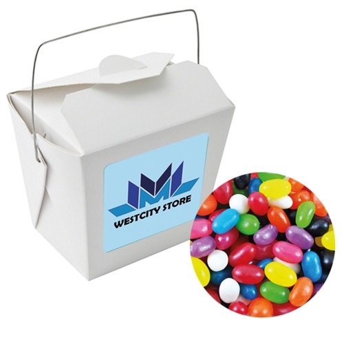 Paper Noodle Box with Mixed Jelly Beans