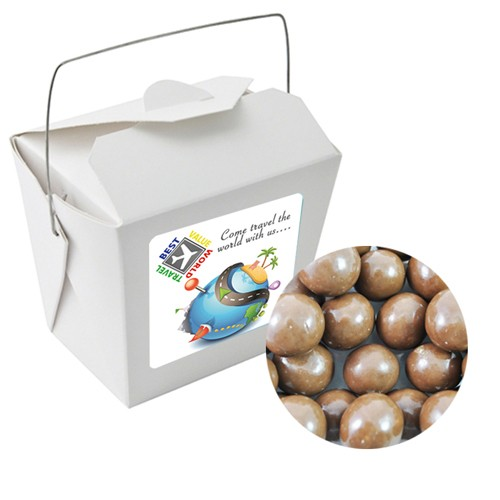 Paper Noodle Box with Malt Balls