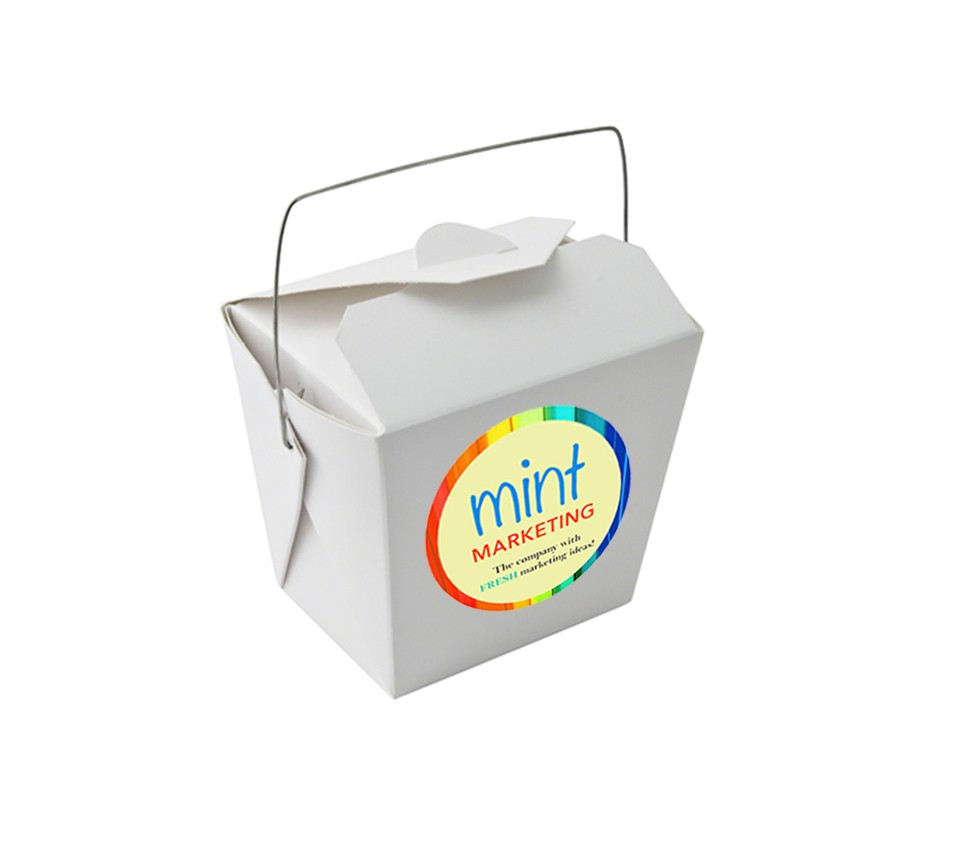 Paper Noodle Box with Mini Cookies