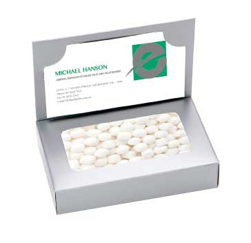 Business Card Box with Mini Mints