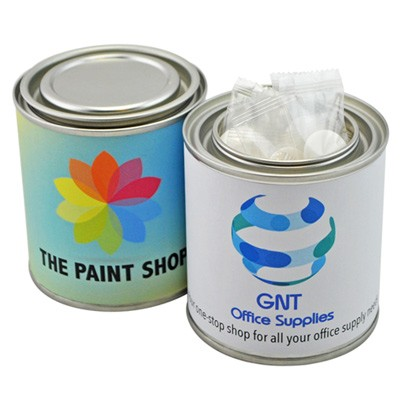 Small Paint Tin with Individually Wrapped Mints
