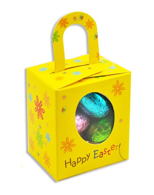 printed easter Noodle box with 5 Mini Assorted Easter Eggs