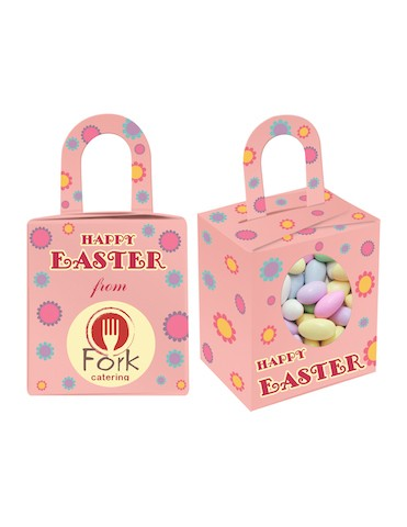 Custom Printed Easter Noodle Box with Sugar Almonds