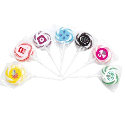 Swirl Lollipop Single Colour _ Large