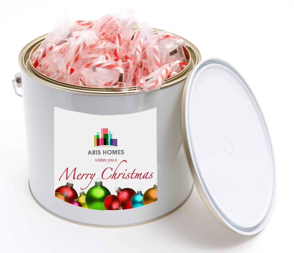 X-Mas Bucket with Mini Candy Canes