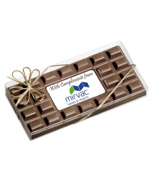 Chocolate Bar with a Customised Business Chocolate card as centre piece