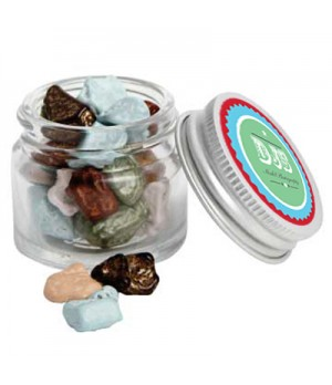 Mini Glass Jar with Chocolate Rocks