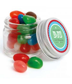 Mini Glass Jar with Mixed Mini Jelly Beans