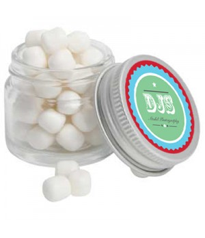 Mini Glass Jar with Mini Mints