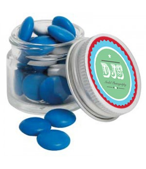 Mini Glass Jar with Chocolate Gems (Corporate Colour)
