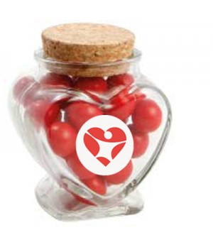 Glass Heart Jar with Choc Red Balls_Jaffa Lookalikes