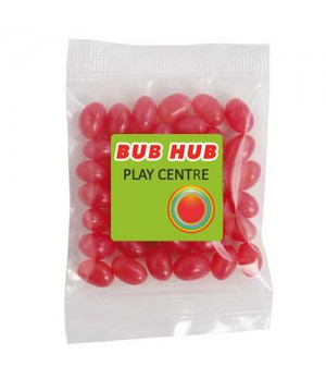 Medium Confectionery Bag - Mini Jelly Beans (Corporate Colours)