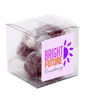 Small Clear Cube with Acid drops (Corporate Colour)