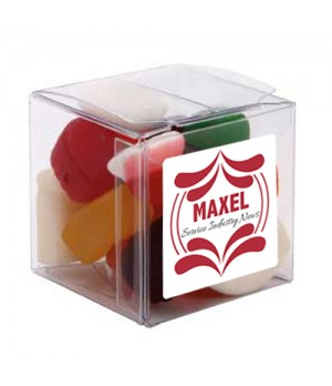 Big Clear Cube with Mixed Lollies