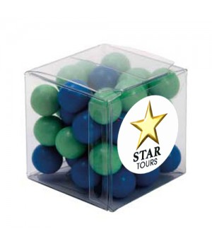 Big Clear Cube with Chocolate Balls (Corporate Colour)