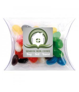 Clear Pillow Box with Mixed Mini Jelly Beans