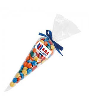 Confectionery Cones with Mixed Chocolate Gems