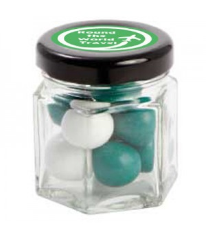 Small Hexagon Jar with Choc Mint Balls