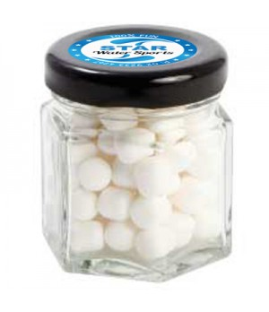 Small Hexagon Jar with Mini Mints