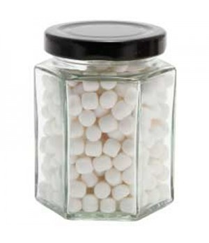 Large Hexagon Jar with Mini Mints