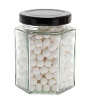 Large Hexagon Jar with Mini Mints