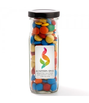 Large Square Jar with Mixed Chocolate Gems
