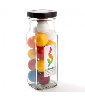 Large Square Jar with Giant Gum Balls