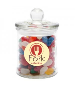 Glass Candy Jar with Jelly Beans