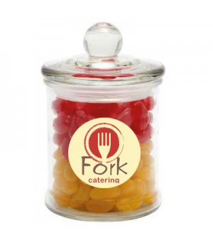 Glass Candy Jar with Jelly Beans (Corporate Colour)