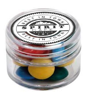 Mini Plastic Jar with Mixed Chocolate Gems